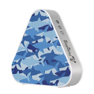 Blue Shark Pattern Bluetooth Speaker