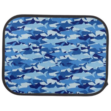 Beach Themed Blue Shark Pattern Car Mat
