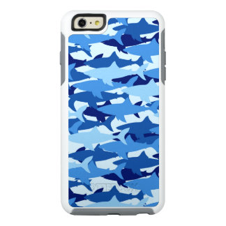 Blue Shark Pattern OtterBox iPhone 6/6s Plus Case
