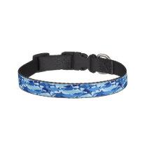 Blue Shark Pattern Pet Collar