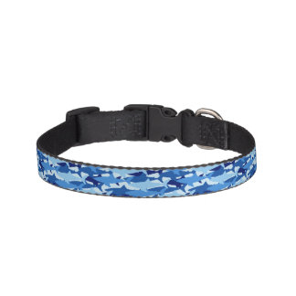 Blue Shark Pattern Pet Collar