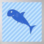 Blue Shark. Print