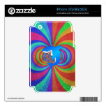 Blue shark psychedelic glitter rainbow decals for the iPhone 3GS