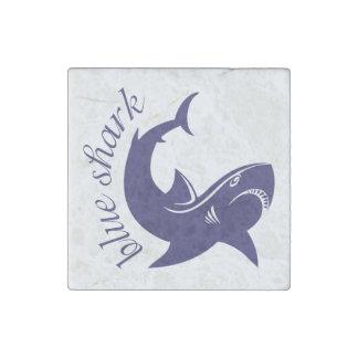 Blue shark stone magnet