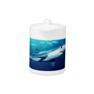 Blue Shark Teapot