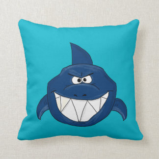 Blue shark throw pillow