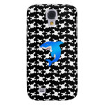 Blue shark with black and white skulls pattern galaxy s4 cover