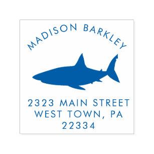 Wooden Stamp Stamp Shark