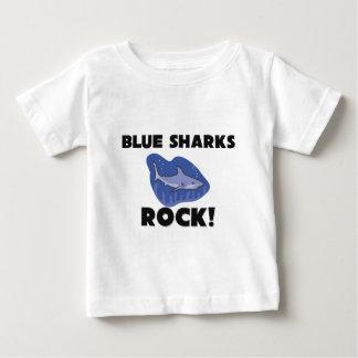Blue Sharks Rock Baby T-Shirt
