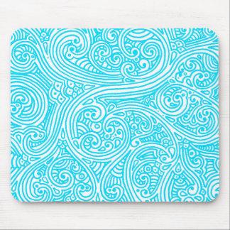 Blue Sharpie Swirls Mouse Pad