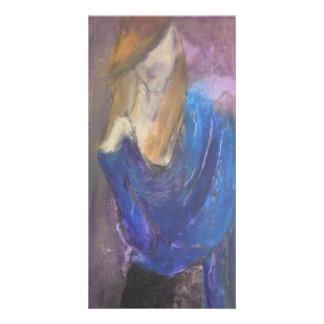 Blue Shawl-Photo Card
