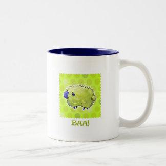 Blue Sheep 2-Tone Mug(right handle)