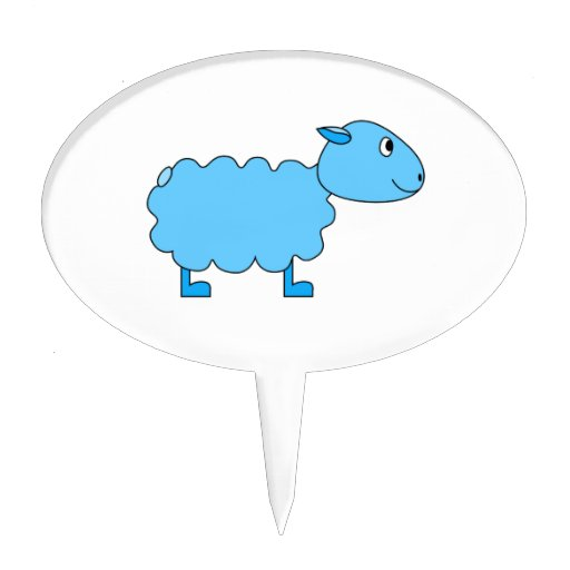 Blue Sheep. Cake Toppers