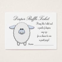 Blue Sheep Diaper Raffle Tickets