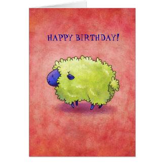 Blue Sheep Greeting Card(customizable) Card