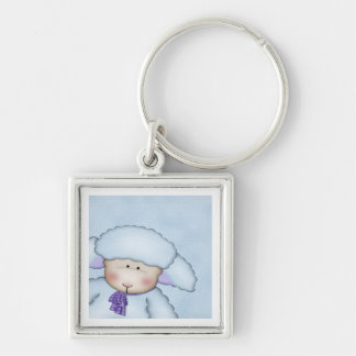 Blue Sheep Keychain