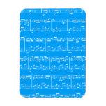 Blue Sheet Music Flexible Magnet