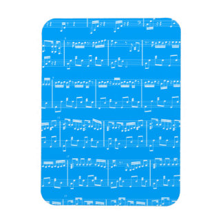 Blue Sheet Music Flexible Magnet