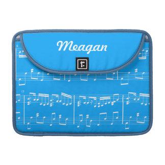 Blue Sheet Music MacBook Sleeve MacBook Pro Sleeve