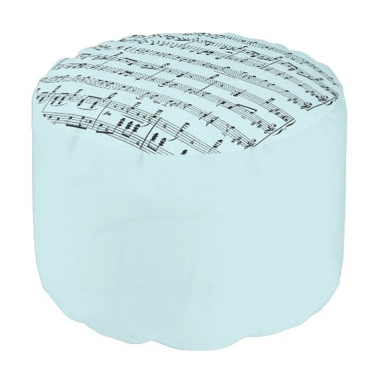 Blue Sheet Music Pouf