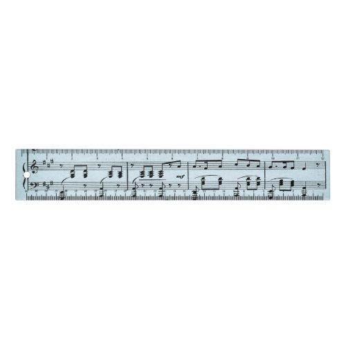 Blue Sheet Music Ruler
