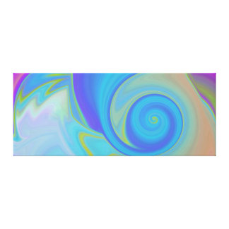 Blue Shell Abstract Canvas Print