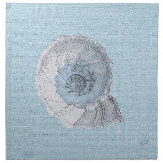 blue shell napkin
