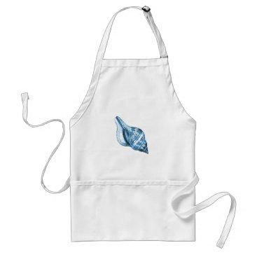 Beach Themed Blue shell nautical coastal ocean gifts adult apron