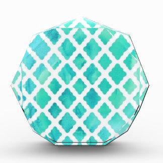 Blue Shell Pattern Acrylic Award