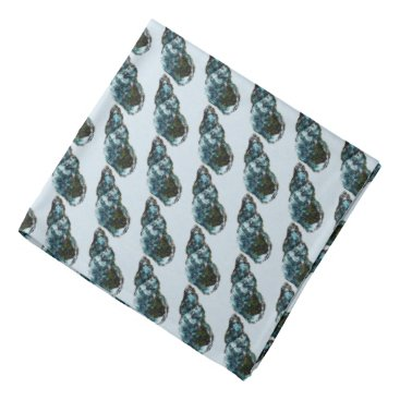 Beach Themed Blue Shell Pattern Bandana