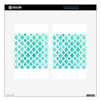 Blue Shell Pattern Decals For Kindle Fire