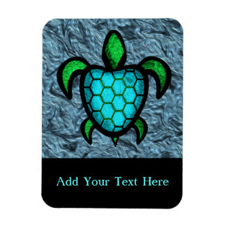 Blue Shell Turtle Customizable  Flexi Magnet