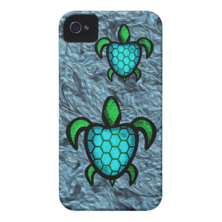 Blue Shell Turtle iPhone Case iPhone 4 Case-Mate Case