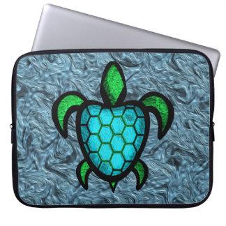 Blue Shell Turtle Laptop Sleeve