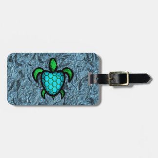Blue Shell Turtle Luggage Tag