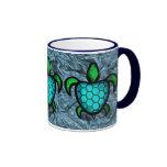 Blue Shell Turtle Mugs