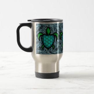 Blue Shell Turtle Travel Mug