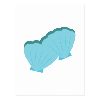 Blue Shellfish Postcard