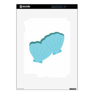 Blue Shellfish iPad 2 Skin