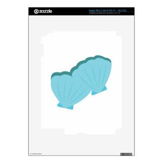 Blue Shellfish Skin For iPad 3