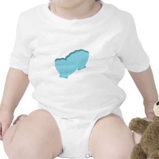 Blue Shellfish Baby Bodysuits