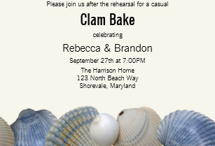 Clambake Rehearsal Dinner Invitations