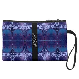 blue shells monogrammable wristlet purse