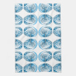 Blue Shells Pattern. Hand Towel