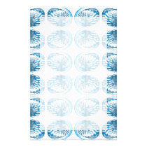 Blue Shells Pattern. Stationery