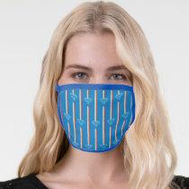 Blue Shield Pattern Face Mask