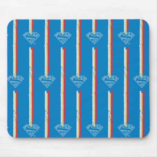 Blue Shield Pattern Mouse Pad