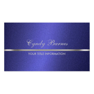 Blue Shimmer with Silver Business Card