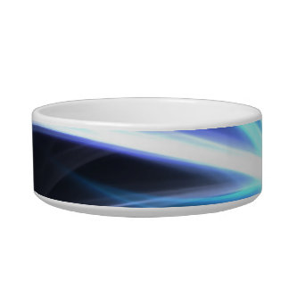 Blue Shining Solar Fractal Starburst Bowl