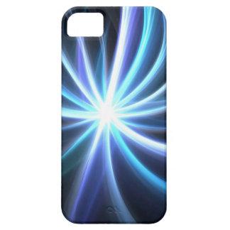 Blue Shining Solar Fractal Starburst iPhone 5 Cover